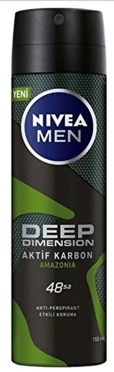 Nivea Nivea Men Deep Dimension Amazonia Deodorant 150 ml Renksiz